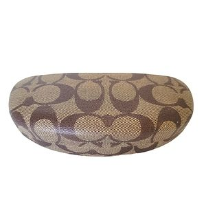 Coach Clamshell Glasses Case Brown